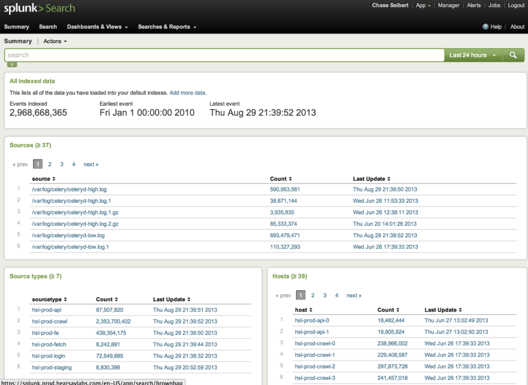 splunk sources